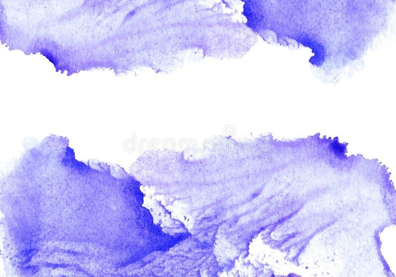Cadre aqueux violet illustration de vecteur