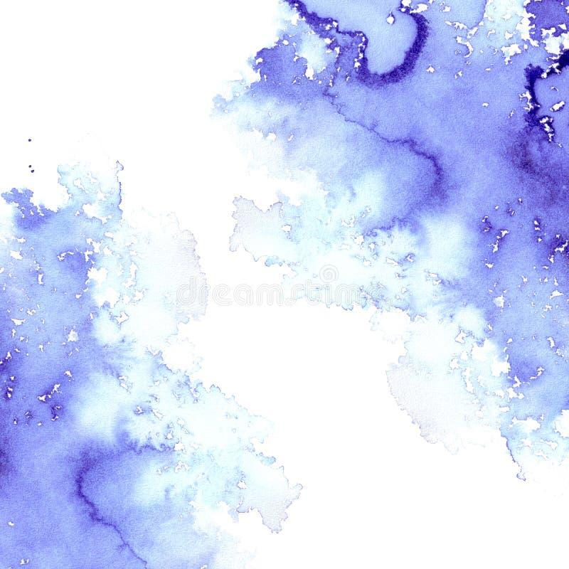 Cadre aqueux violet abstrait illustration stock