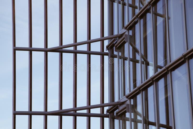 Cadre architectural moderne avec cadres de façade images libres de droits