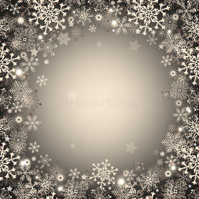 Cadre argenté de Noël illustration libre de droits