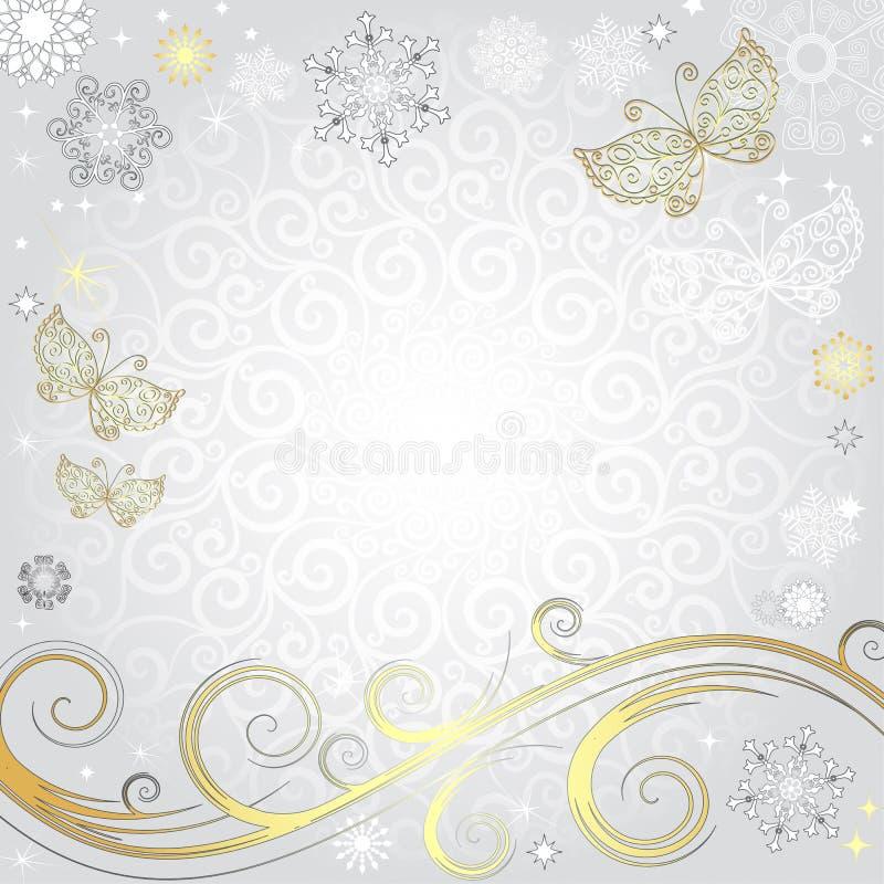 Cadre argenté de Noël d'hiver illustration libre de droits