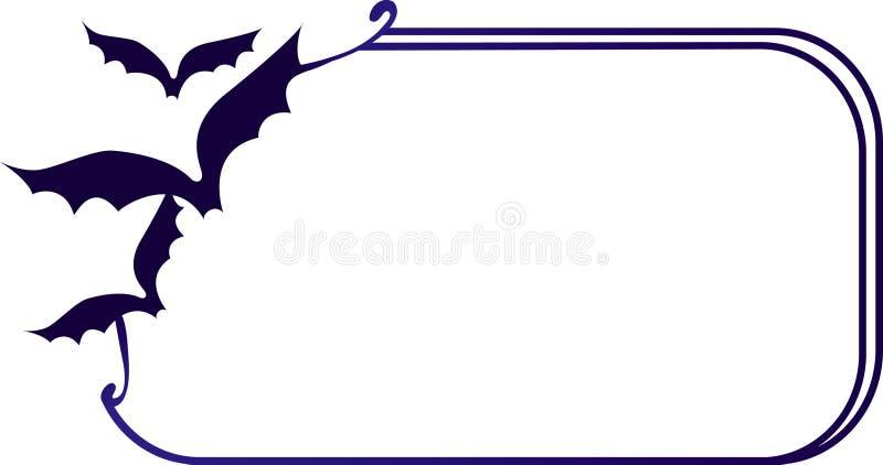 Cadre avec 'bat' illustration stock