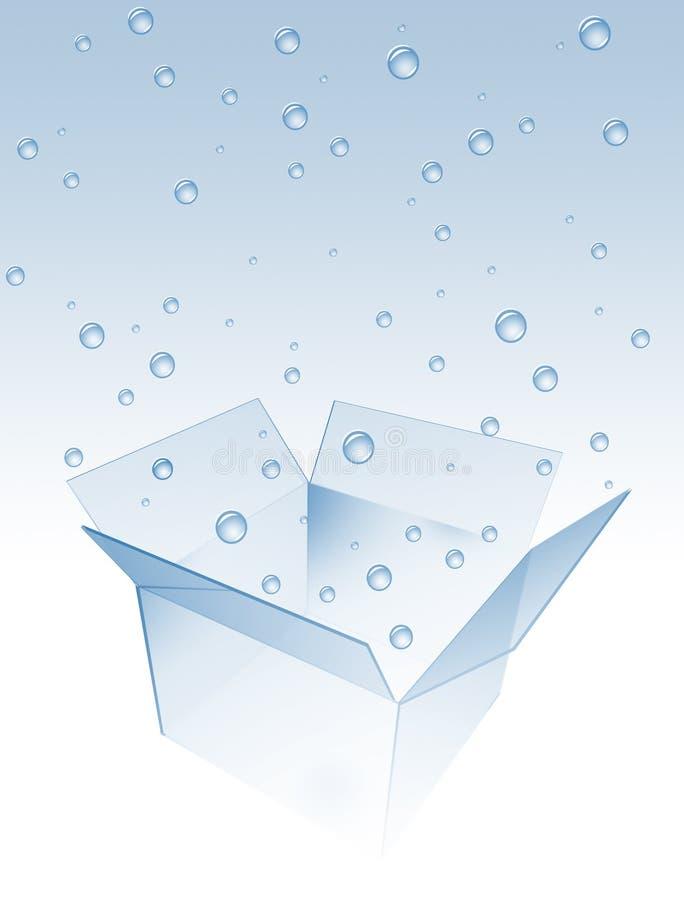 Cadre avec des baisses de l'eau illustration stock