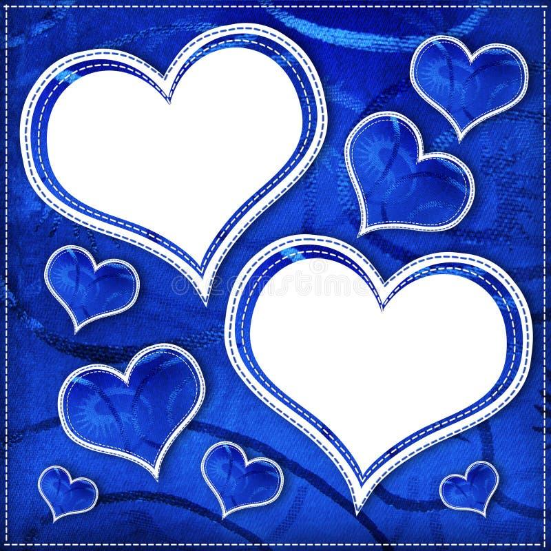 Cadre avec le coeur. Album. illustration stock