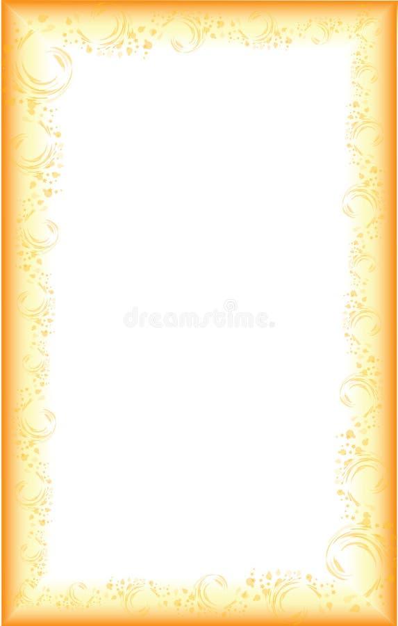 Cadre avec le gradient illustration stock