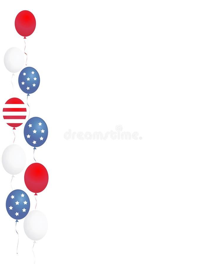 Cadre/ballons patriotiques illustration stock