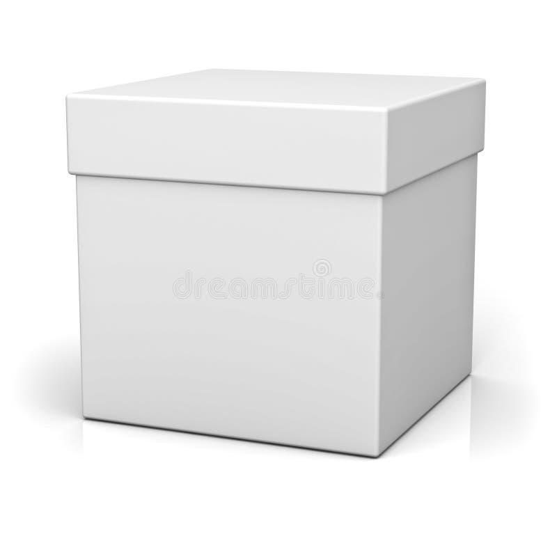 Cadre blanc avec le cache illustration libre de droits