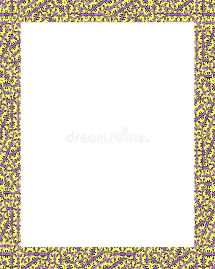 Download Cadre Blanc Avec Les Frontières Fleuries Décorées Illustration Stock - Illustration du trames, illustration: 77151401