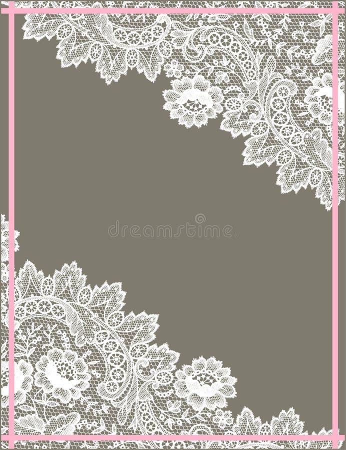 Cadre blanc de dentelle illustration stock