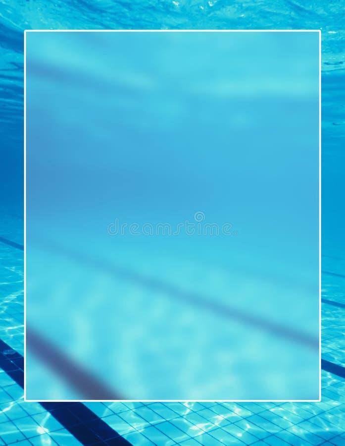 Cadre blanc de frontière de fond de piscine, blanc extérieur de l'eau photo libre de droits