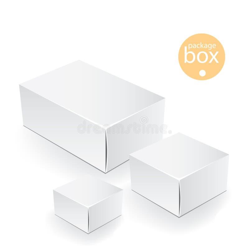 Cadre blanc de module Faux calibre haut de empaquetage illustration stock