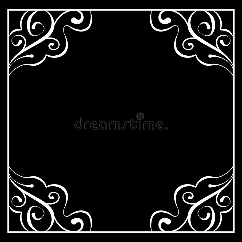 cadre blanc de vecteur sur un fond noir illustration de vecteur illustration du antique noir. Black Bedroom Furniture Sets. Home Design Ideas