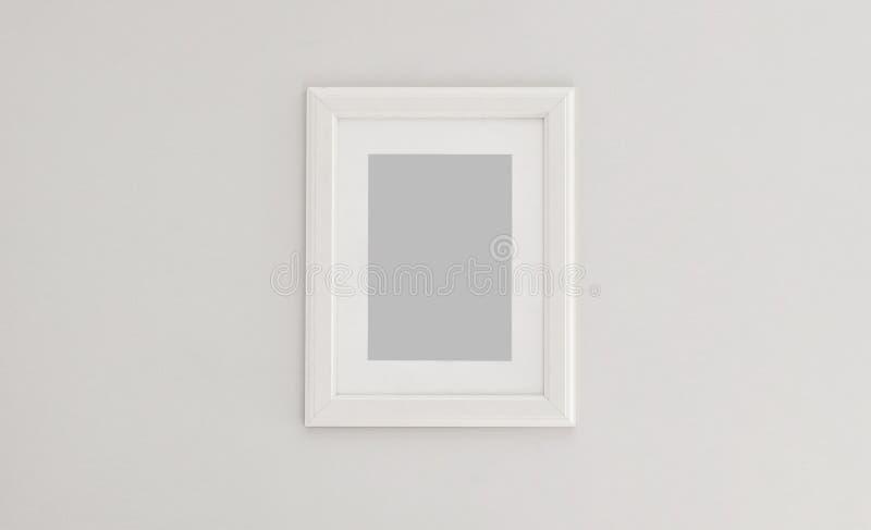 Cadre blanc vertical rectangulaire photographie stock