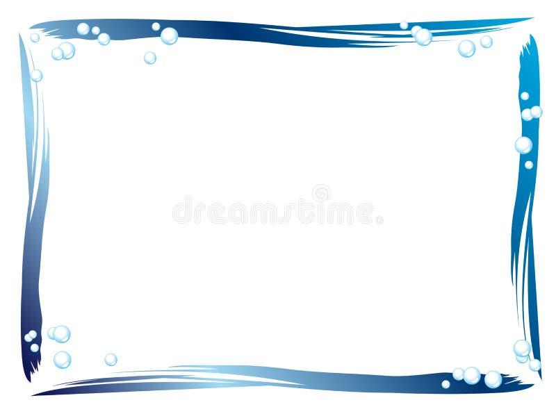 Cadre bleu illustration libre de droits