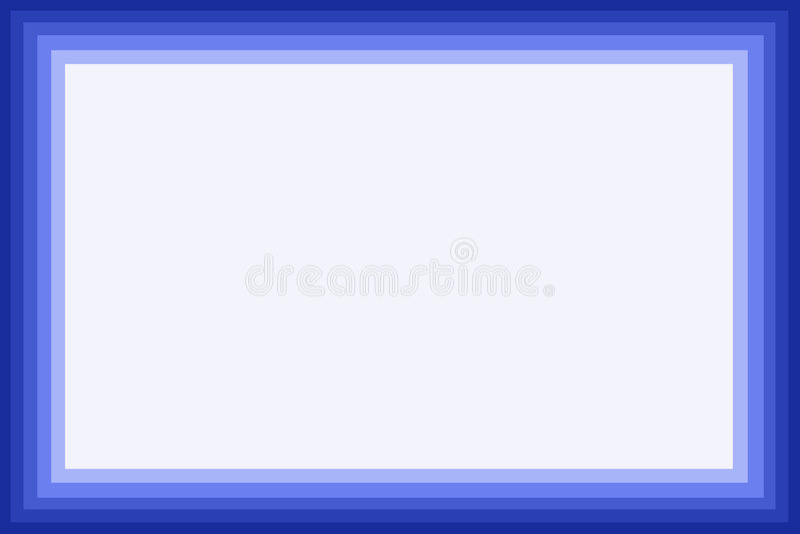 Cadre bleu illustration stock