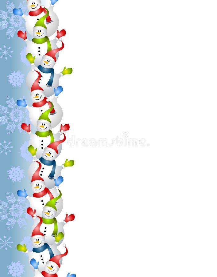 Cadre bleu de bonhomme de neige illustration de vecteur