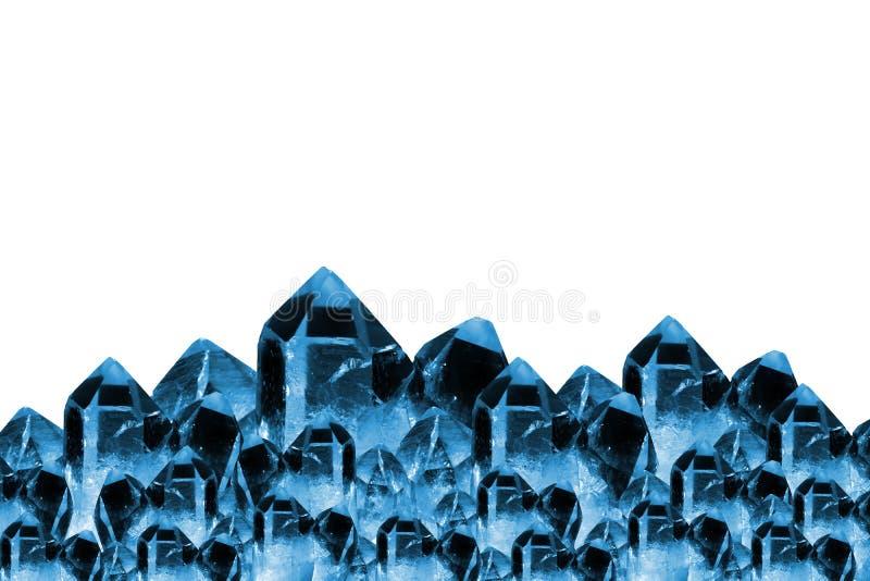 Cadre bleu de cristaux photographie stock