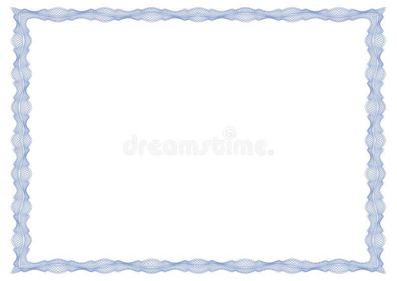 Cadre de guilloche pour le certificat, le diplôme ou le billet de banque illustration de vecteur