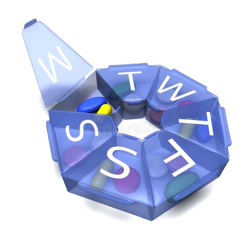 Cadre bleu-foncé pour des tablettes illustration de vecteur