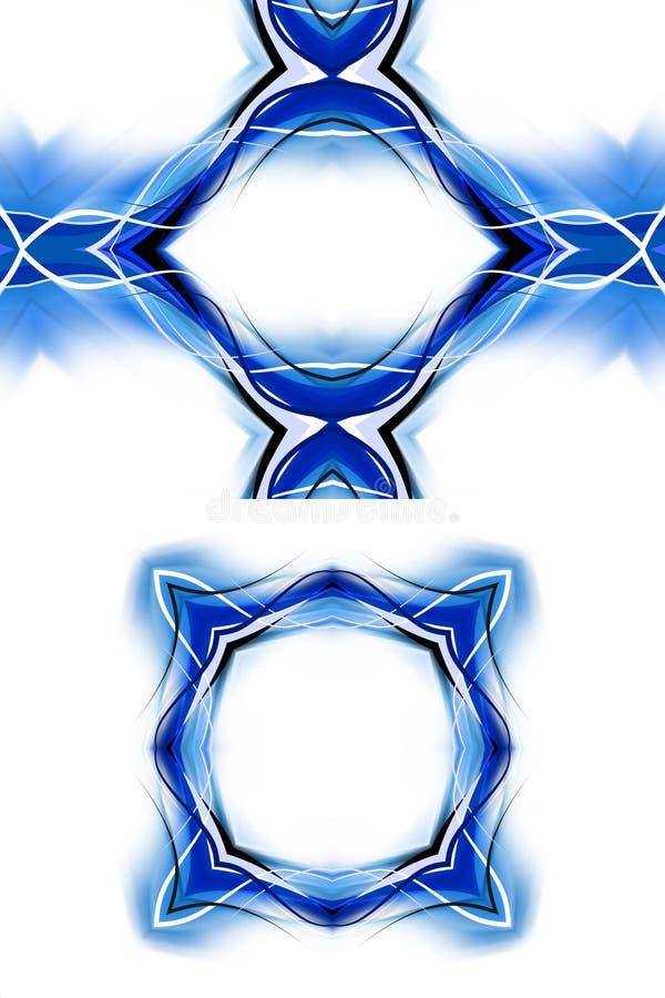 Cadre bleu moderne illustration de vecteur