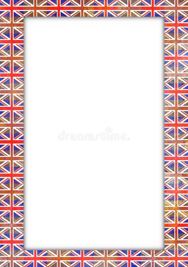 Cadre BRITANNIQUE d'indicateur illustration de vecteur