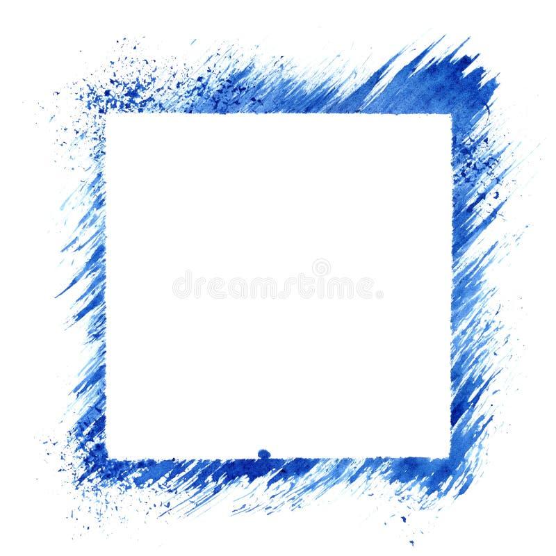 Cadre carré bleu de pochoir illustration de vecteur