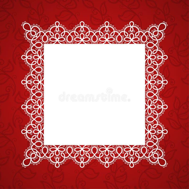 Cadre carré de dentelle illustration libre de droits