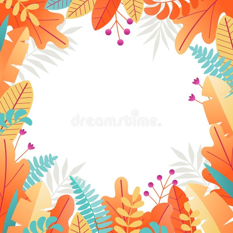 Cadre carré floral 4 illustration stock