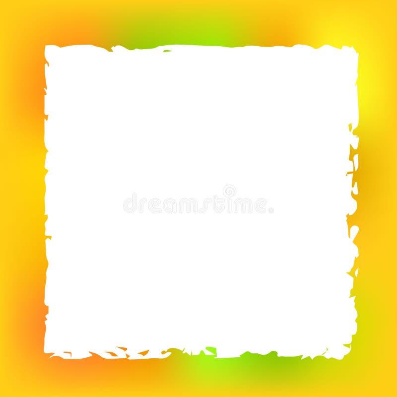 Cadre carré sur Autumn Blurred Background illustration de vecteur