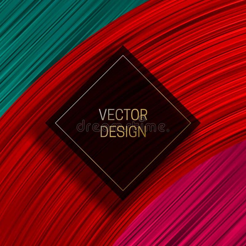Cadre carré sur le fond dynamique coloré Conception d'emballage ou calibre de couverture à la mode illustration libre de droits