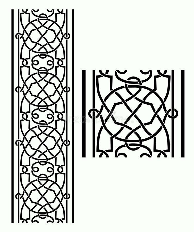 Cadre celtique illustration stock