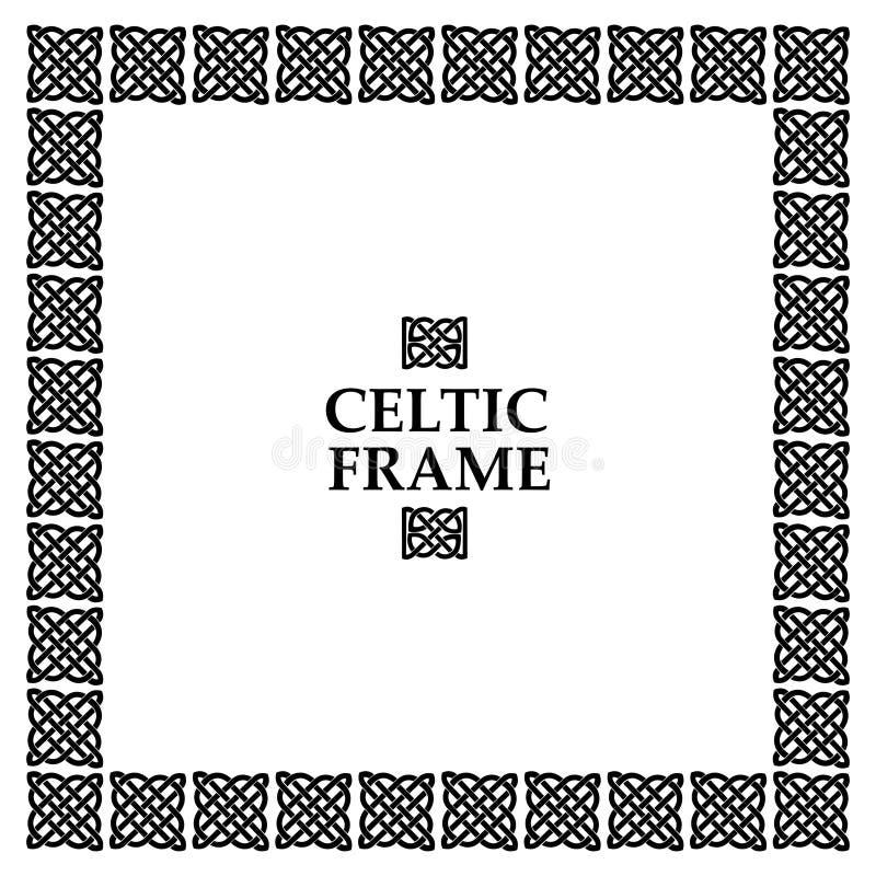 Cadre celtique de place de noeud illustration stock