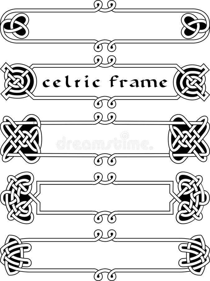 Cadre celtique réglé illustration de vecteur