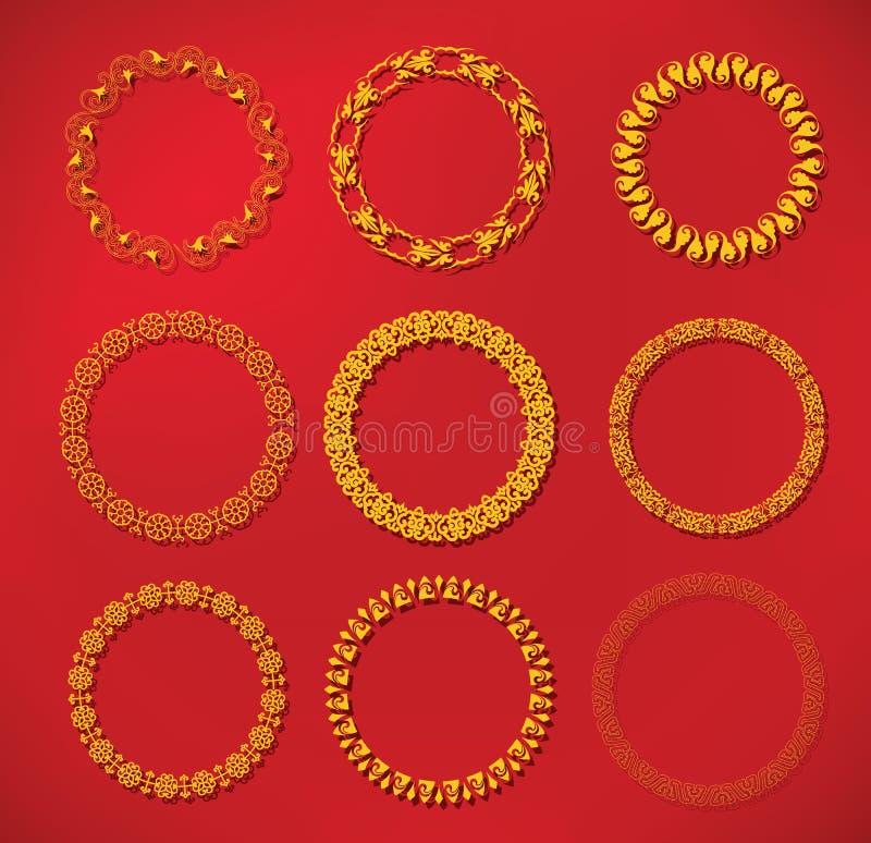 Cadre chinois de modèle de nouvelle année de cadre illustration de vecteur