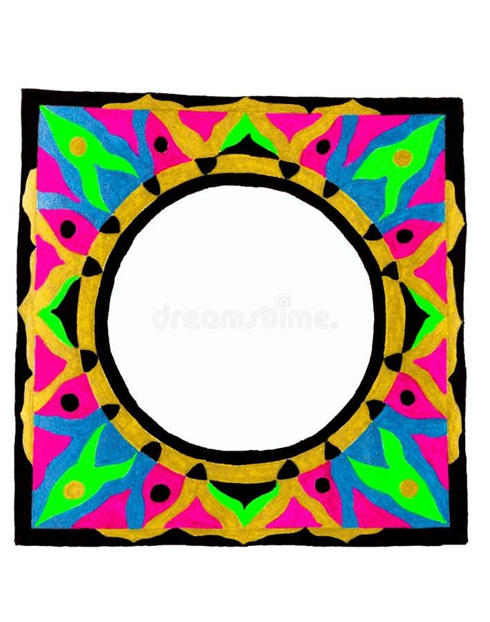 Cadre circulaire abstrait illustration libre de droits