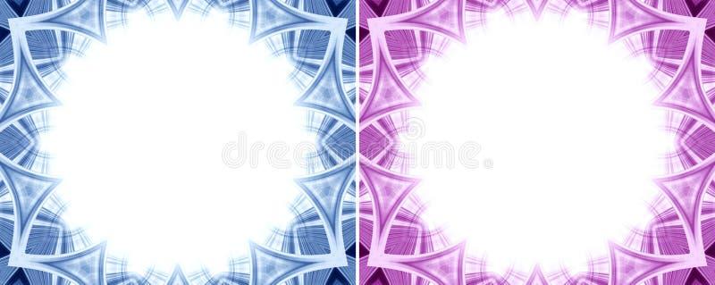 Cadre circulaire abstrait de frontière illustration de vecteur