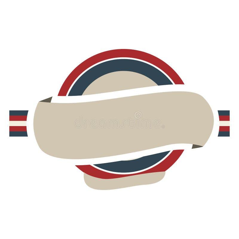 cadre circulaire avec le drapeau Royaume-Uni de couleur et le label illustration de vecteur