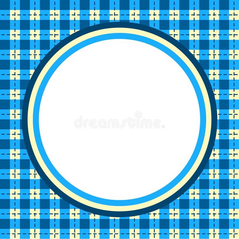 Cadre circulaire de frontière de guingan de plaid illustration libre de droits