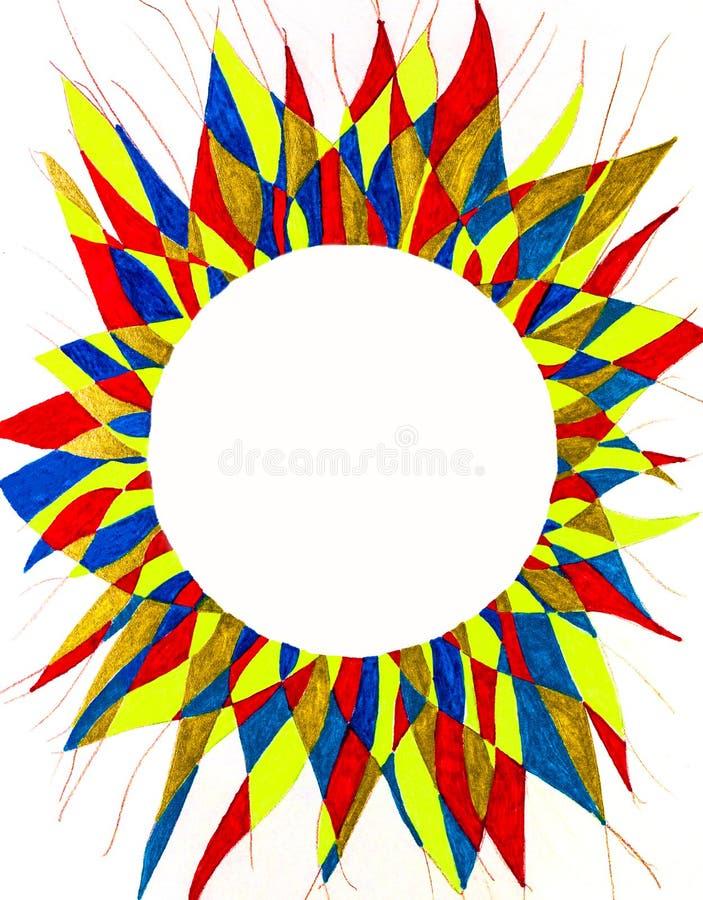Cadre circulaire en épi illustration stock