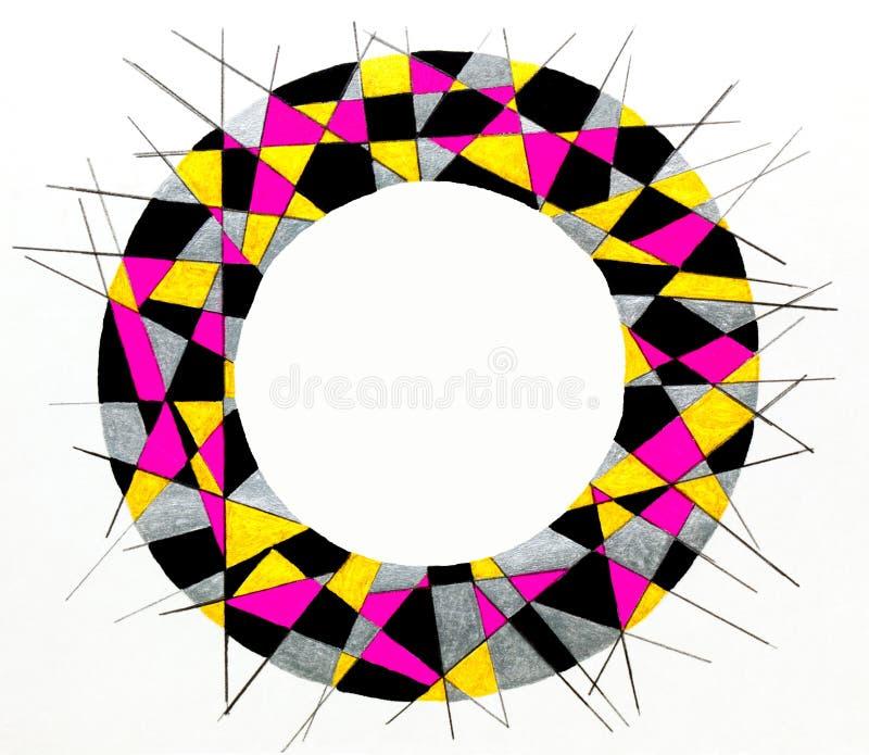 Cadre circulaire rayé illustration libre de droits