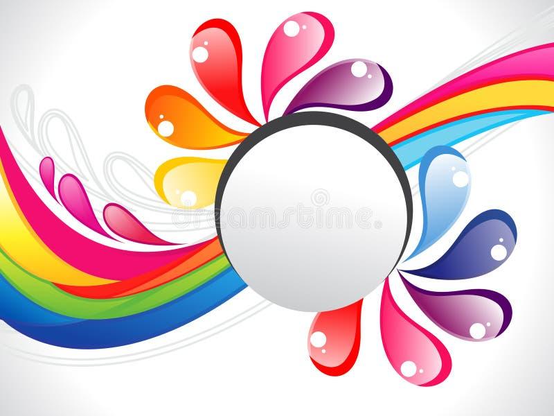 Cadre coloré abstrait de liquide d'arc-en-ciel illustration stock