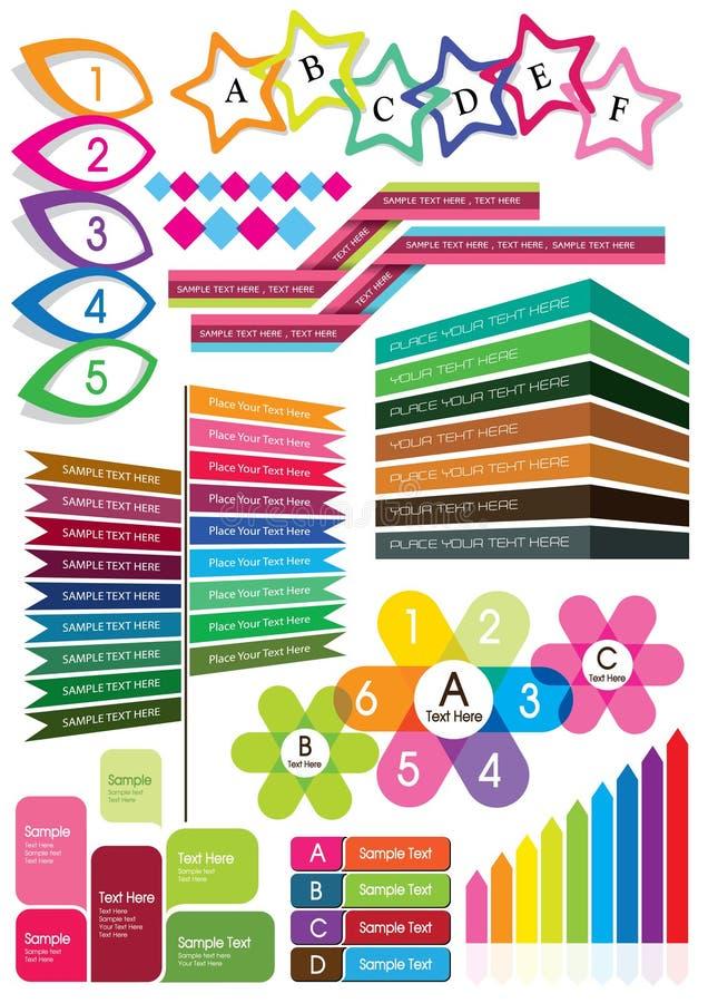 Cadre coloré des textes illustration libre de droits