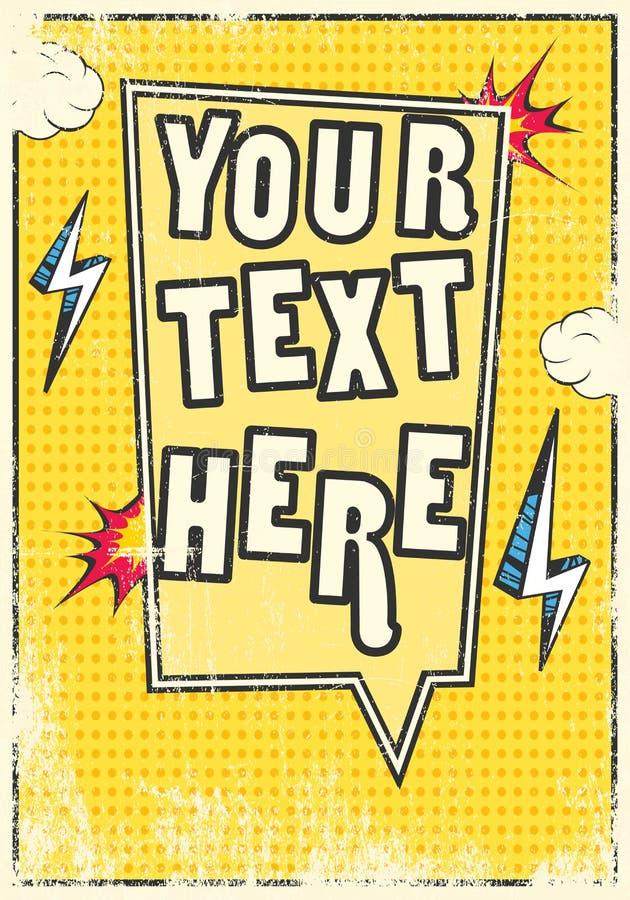 Cadre comique d'affiche illustration stock