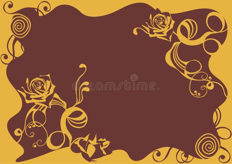 Cadre décoratif illustration de vecteur