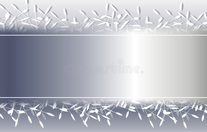 Cadre décoratif argenté de fond de Noël illustration stock