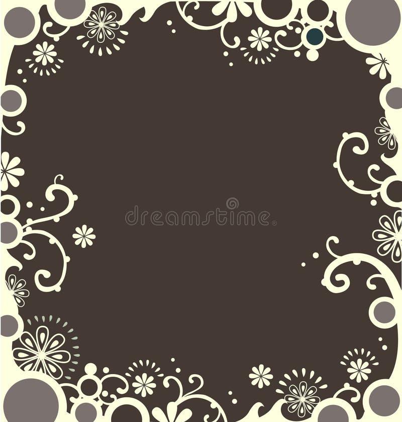 Cadre décoratif blanc photo stock