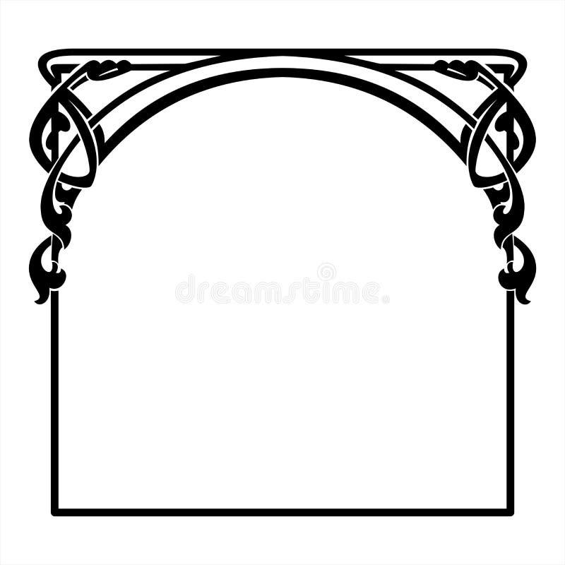 cadre d coratif carr dans le style d 39 art nouveau illustration de vecteur illustration du. Black Bedroom Furniture Sets. Home Design Ideas