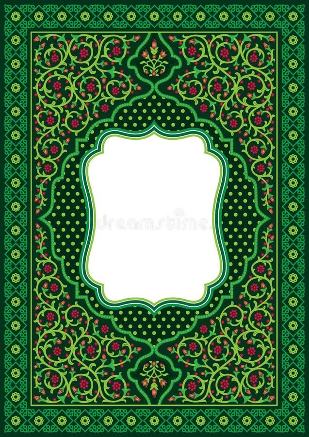 Cadre décoratif d'ornement floral pour la couverture de livre ou la carte de voeux illustration libre de droits