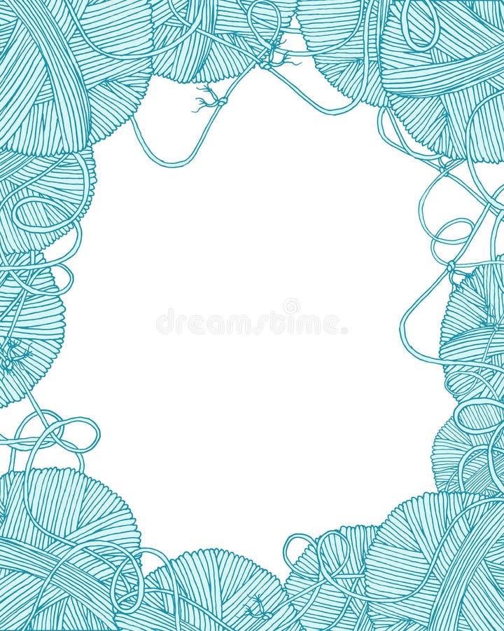 Cadre décoratif de boules de fil de vecteur illustration libre de droits
