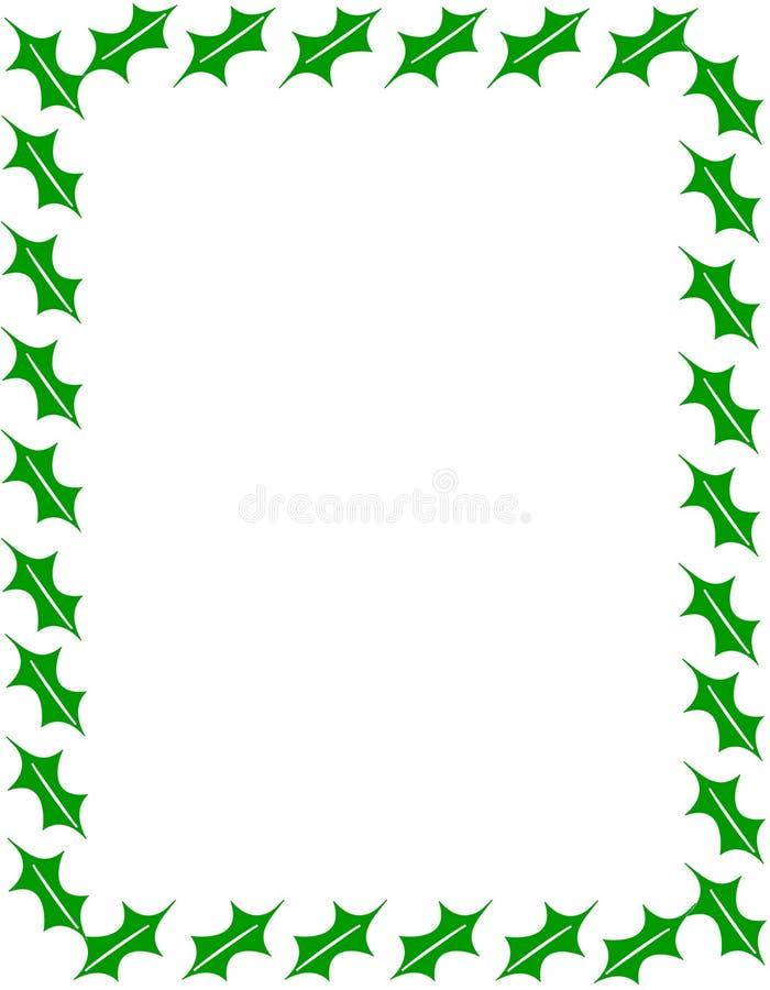 Cadre décoratif de feuille pour la conception de Noël, carte, fond images libres de droits